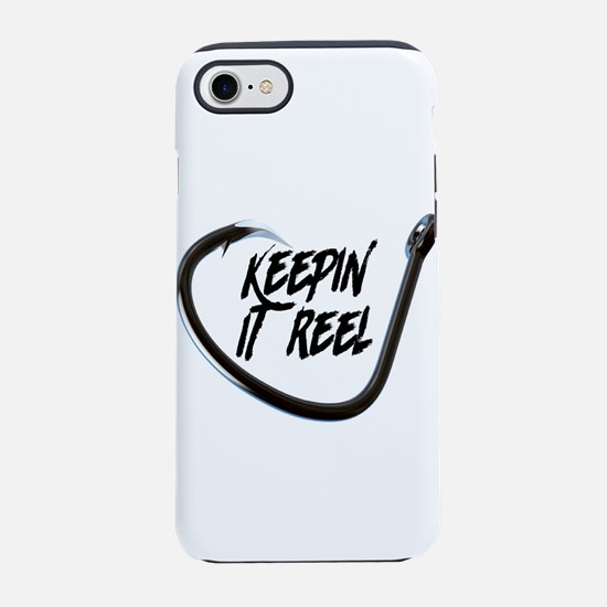fishing, keepin it reel iPhone 8/7 Tough Case
