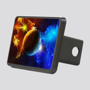 Planet And Space Rectangular Hitch Cover