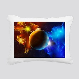 Planet And Space Rectangular Canvas Pillow