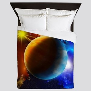 Planet And Space Queen Duvet