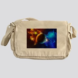Planet And Space Messenger Bag