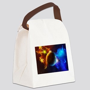 Planet And Space Canvas Lunch Bag