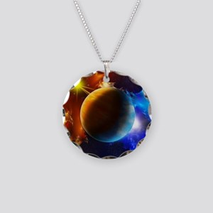 Planet And Space Necklace Circle Charm