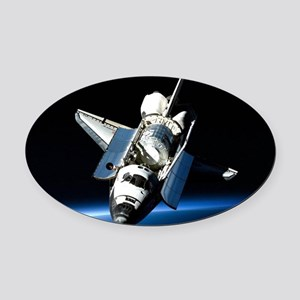 Space Shuttle Oval Car Magnet