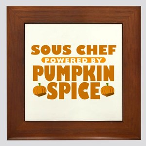 Sous Chef Powered by Pumpkin Spice Framed Tile