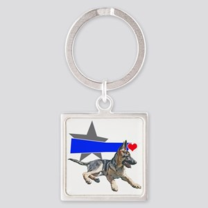 The Shepherd blue line Square Keychain