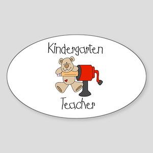 Kindergarten Teacher Oval Sticker