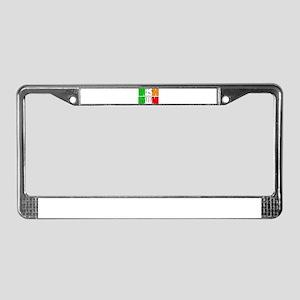 Irish Italian License Plate Frame