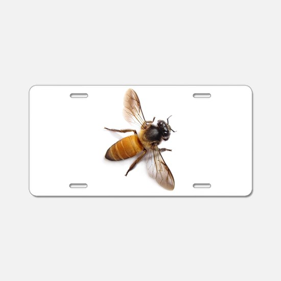 Cute Bee Aluminum License Plate