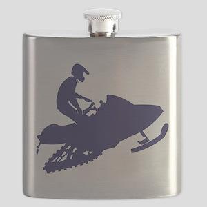 Navy Snowmobiler Flask