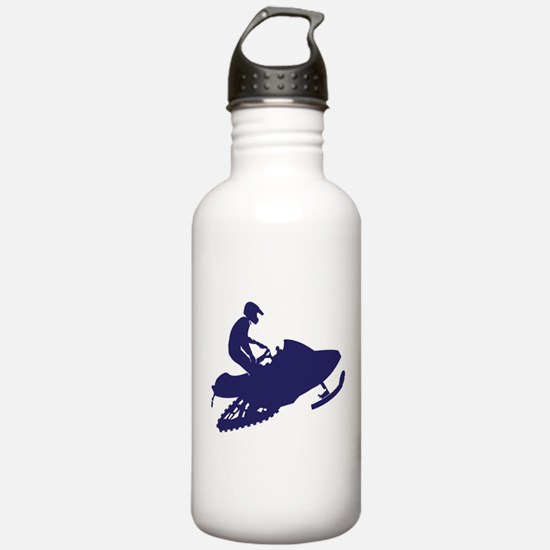 Navy Snowmobiler Water Bottle