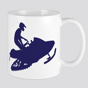 Navy Snowmobiler 11 oz Ceramic Mug