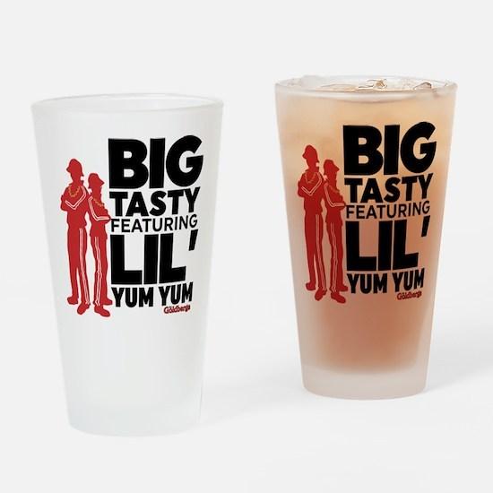 Big Tasty Lil Yum Yum Goldbergs Drinking Glass