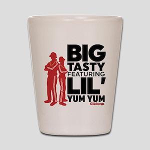 Big Tasty Lil Yum Yum Goldbergs Shot Glass