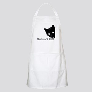 Black cats rule Light Apron