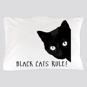 Black cats rule Pillow Case