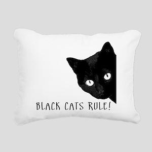 Black cats rule Rectangular Canvas Pillow