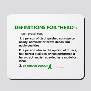 HERO Definitions (Organ Donor) Mousepad