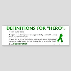 HERO Definitions (Organ Donor) Bumper Sticker
