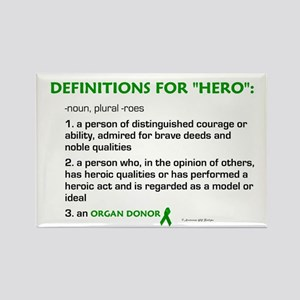 HERO Definitions (Organ Donor) Rectangle Magnet
