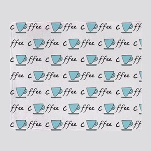 Fun Coffee Mug - Blue Throw Blanket