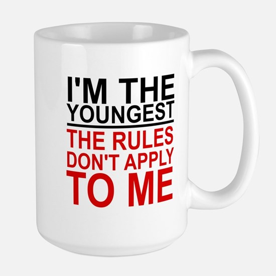 I'M THE YOUNGEST, THE RULES DON'T APPLY Large Mug