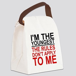 I'M THE YOUNGEST, THE RULES DON'T Canvas Lunch Bag