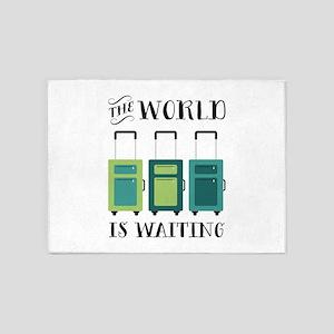 World Is Waiting 5'x7'Area Rug
