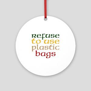 Plastic Bags Round Ornament