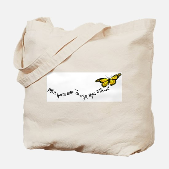 Wiccan rede large Tote Bag
