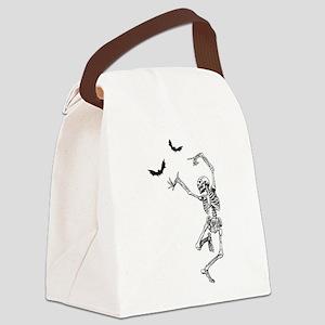 dancing skeleton Canvas Lunch Bag
