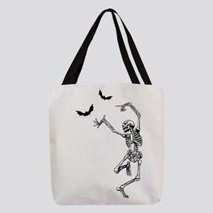 dancing skeleton Polyester Tote Bag