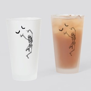 dancing skeleton Drinking Glass