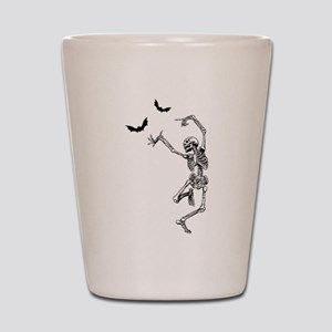 dancing skeleton Shot Glass