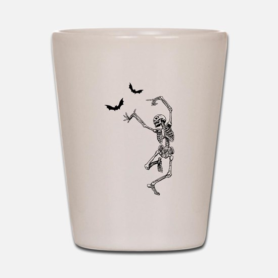 dancing skeleton Shot Glass