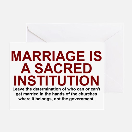 Marriage Is Sacred Greeting Card