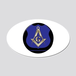Freemasons Thin Blue Line Wall Decal