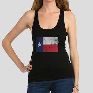 Distressed Texas Flag Racerback Tank Top