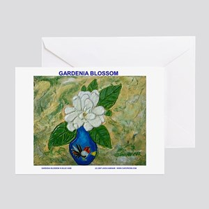 Gardenia in Bud Vase Greeting Cards (Pk of 20)