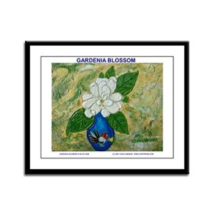 Gardenia in Bud Vase Framed Panel Print