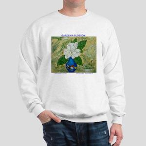 Gardenia in Bud Vase Sweatshirt