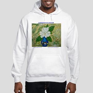 Gardenia in Bud Vase Hooded Sweatshirt