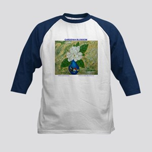 Gardenia in Bud Vase Kids Baseball Jersey