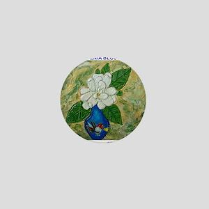 Gardenia in Bud Vase Mini Button
