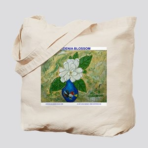 Gardenia in Bud Vase Tote Bag