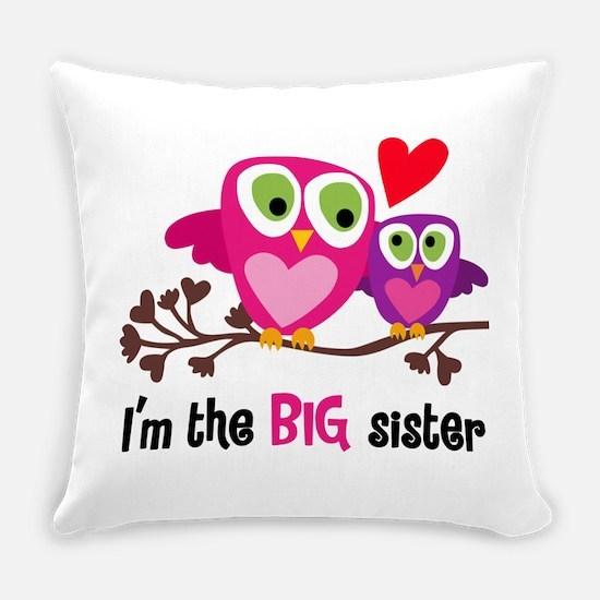 Big Sister Owl Everyday Pillow