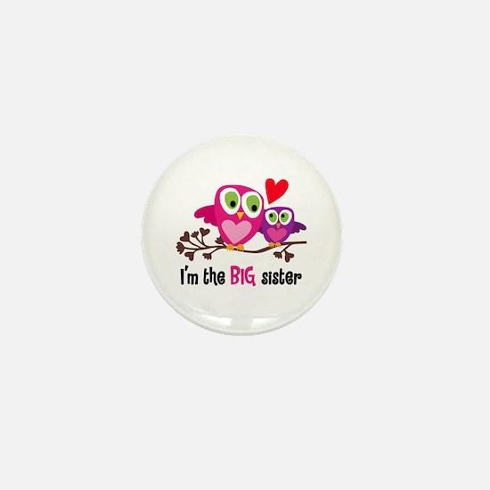 Big Sister Owl Mini Button