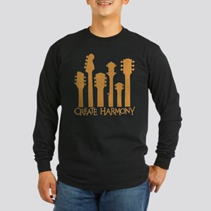 CREATE HARMONY Long Sleeve Dark T-Shirt