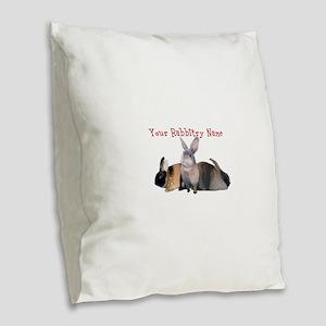 Personalize it! Harlequins Burlap Throw Pillow