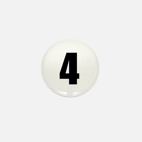 Number Four - No. 4 Mini Button